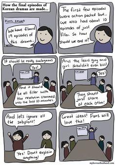 Korean Dramas - Ugh The Agony. I'm pretty sure this what truly happens. #kdramahumor