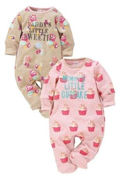 Baby Girls Sleepsuits & Pyjamas. Your baby girl will drift peacefully to sleep in her very own sleepsuit, all of which are cosy and cute, perfect for bedtimes. She will look super adorable in each of these vibrant designs and star in pictures you'll keep forever.