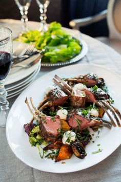 Lamb Recipes, Healthy Recipes, Romantic Dinner Tables, Food Plating, Tasty Dishes, Main Dishes, Food Photography, Good Food, Food Porn