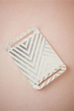 Silvery Chevron Tray from BHLDN