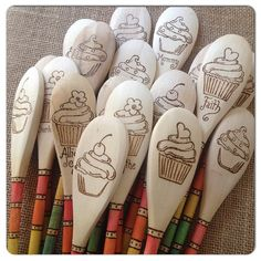 Custom Kids' Mixing or Baking Woodburned Spoon by SueMadeThat