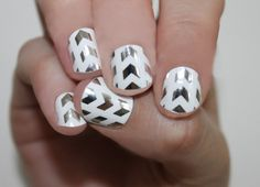 Silver Arrowhead Nail Wraps by SoGloss on Etsy - heat and file