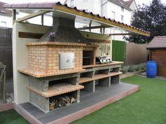 Four a Pain et Barbecue en Brique avec évier AV358F Gazebo, Pergola, Four A Pizza, Outdoor Spaces, Outdoor Decor, Ideas Para, Shed, Outdoor Structures, Cabin