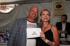 """Robin Jay with Rick Harrison from TV's PAWN STARS @ special event for Meetings & Events Las Vegas Magazine. My friend in Ohio, Barbara, LOVES the Pawn Stars, so I had to show her the love. She uses an """"I LOVE CHUMLEE lapel pin as a golf ball marker. SO VEGAS! :) Pawn Stars, Best Tv Shows, Golf Ball, Lunches, Marker, Special Events, Robin, Jay, Las Vegas"""