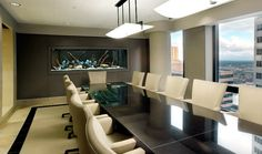 Conference Room Fish Tank Decorations For Meeting Room Design With ...
