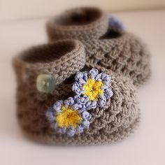 Forget Me Not Baby Shoes