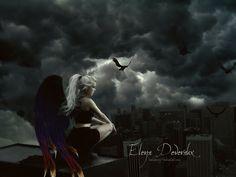 fan_art_elena_the_guild_hunter_by_dark_voices - Nalini Singh :: NYT bestselling author Vampires, Angels Blood, Dark Angels, Fallen Angels, Immortals After Dark, Nalini Singh, Free Short Stories, Angel Warrior, Paranormal Romance