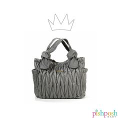 Lightweight and stylish, the Marie Antoinette Convertible Collection by timi & leslie does not sacrifice functionality. Pack it ALL in this gorgeous quilted bag that can be converted to a cross body or stroller bag with the included straps. Available in 3 colors (shown: Silver)! Makes a great gift.  http://www.pishposhbaby.com/timi-leslie-convertible-collection-marie-antoinette-silver.html