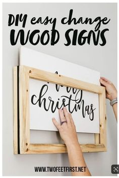 DIY Easy change frame for wood signs for your home,Would you like a reversible framed wood sign? Well, how about something even better, an easy change frame for your wood signs. Easily change just the .