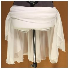 A light and airy custom chiffon skirt, made for a lyrical duet.