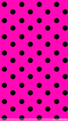 Black Polka Dots On Hot Pink From Snazzyspace