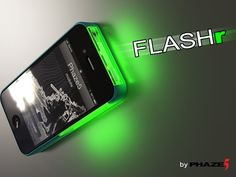 FLASHr: iOS LED Flash Notifications Case for iPhone 4/4s by Terence Green + Trey DeArk (Phaze5), via Kickstarter.