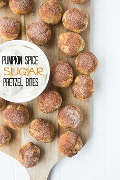 Pumpkin spice sugar pretzel bites