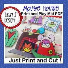 adorable idea for Christmas...MOUSE HOUSE Print and Play Mat playmat PDF pattern by LindyJDesign, $7.00
