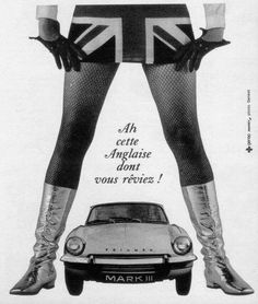 Triumph Spitfire Mk 3 French advert. Visibilite' ist veri good with da top down.