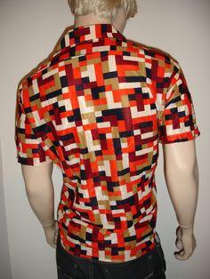 Vintage 1960s MOD Op Art ReTrO Shirt