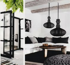 Oooh - the most beautiful black and white room in the world.