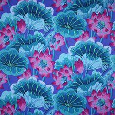 Kaffe Fassett - Lake Blossoms blue *  Patchwork Quilt *