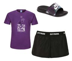 """""""Purple """"Joy of the Lord"""" DriPower Active Tee"""" by edlandon on Polyvore featuring NIKE and Topshop"""
