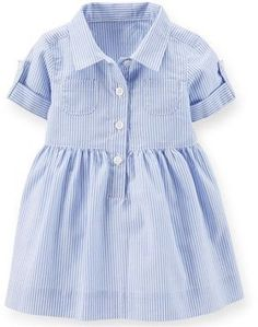 dress anak perempuan Kids Clothing Brands, Size Clothing, Cheap Kids Clothes, Baby Boy, Kids Outfits, Collars, Shirt Dress, Buttons, Autumn Fashion