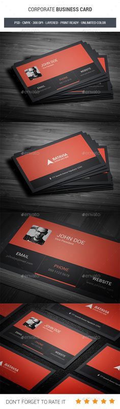 Corporate #Business Card - Corporate Business #Cards Download here: https://graphicriver.net/item/corporate-business-card/19316939?ref=alena994