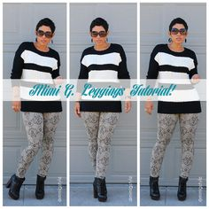Free DIY Leggings Tutorial on the Goosie Girl Blog. New Year, New You!