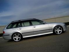 side-shot of  BMW 540i Touring w/ M5 bumpers...love..love.love this car..