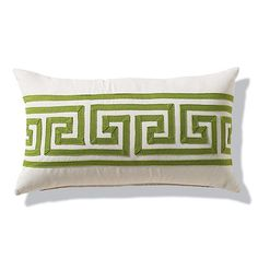 Greek Key Gingko Outdoor Lumbar Pillow