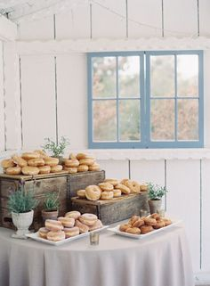 Donuts table! http://www.stylemepretty.com/little-black-book-blog/2015/10/21/rustic-romance-at-leo-carillo-ranch/ | Photography: Caroline Tran - http://carolinetran.net/  wedding dessert ideas