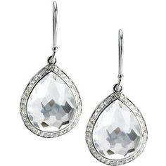 Ippolita Silver Diamond Earrings - Small Teardrop Earring