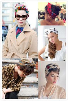 Conseils pour choisir et mettre le foulard en turban sur sa tête autour de ses cheveux et créer un style original pour homme et femme.