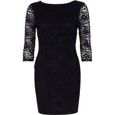 Black lace bodycon dress £28.00