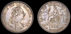 """""""Boulton decided to produce 1000 proof 'dollars', writing on 17th May 1804 that he was 'persuaded the Irish dollar will be thought a more beautiful coin than the English one... I am desirous that every cabinet of coins in the kingdom should have one and therefore I propose to coin a few hundreds, put them into proper preserving cases and offer them to sale in some other shops about Charing Cross or Pall Mall or St James Street'. The proof dollars were to be sold at 8s 6d."""""""