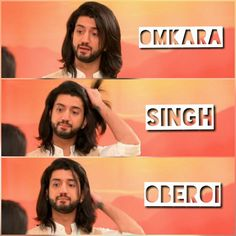 Omkara..  #omkarasinghoberoi Kunal Jaisingh, Nakul Mehta, Alphabet Letters Design, Dil Bole Oberoi, Celebs, Celebrities, Beautiful Couple, Lettering Design, A Good Man