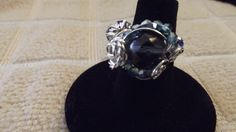 Blue Rose Ring Size 8