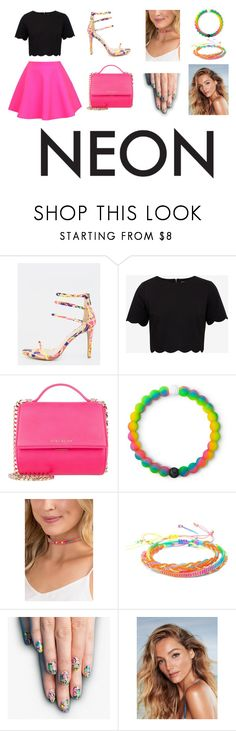 """""""Neon in New York"""" by ahmedsunehra ❤ liked on Polyvore featuring Ted Baker, UNIF, Givenchy, Lokai, Francesca's, Forever 21 and alfa.K"""