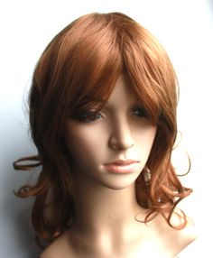 Long curly wig .Synthetic caramel mocha coffee color wig -high quality wig - Ready to ship by wigglywigs. Explore more products on http://wigglywigs.etsy.com