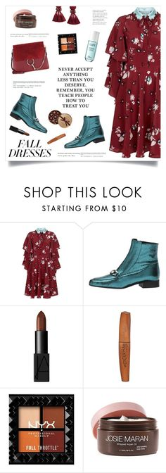 """""""Fall Fashion: Dresses"""" by marina-volaric ❤ liked on Polyvore featuring Valentino, Free People, NARS Cosmetics, Rimmel, Josie Maran and falldresses"""