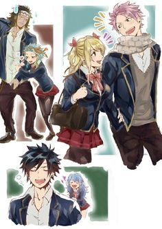 Fairy Tail Couples || GaLe, NaLu, Gruvia