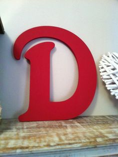 Victorian Decorative Wall Letter 'D'  Any Colour  by LoveLettersMe