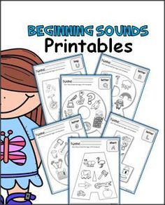 Beginning Alphabet Sounds worksheets for every letter of the alphabet.  On each page color the pictures that begin with the letter.