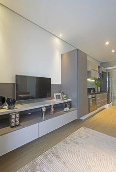 Loft de 40 m² utiliza divisões modulares para manter privacidade