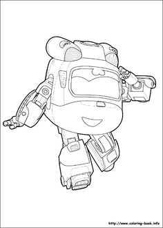 super wings coloring picture - Children Colouring Book