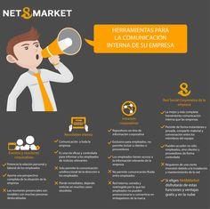 Herramientas para la Comunicacion interna en la empresa #infografia