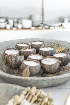 backyard candles for holders Paulina Arcklin Diy Candles, Scented Candles, Beeswax Candles, Creation Bougie, Velas Diy, Coconut Shell Crafts, Coconut Bowl, Candle Packaging, Candle Stand
