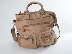 Leather Field Bag, Brown (Convertible) 1
