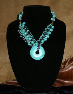 Turq- Tone Stone Necklace