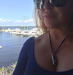 Privileged Nyet customer wearing the Pulley necklace