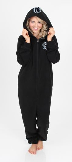Monogrammed Fleece Lounger - Available in Black & Pink!