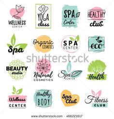 Hand Drawn Watercolor Labels Beauty Cosmetics Stock Vector ...